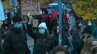 Protest kobiet przeciw zaostrzeniu prawa aborcyjnego