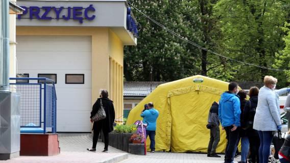 Szpital przyjmujących chorych na koronawirusa